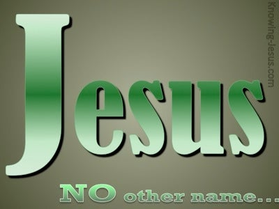 JESUS - No Other Name (green)